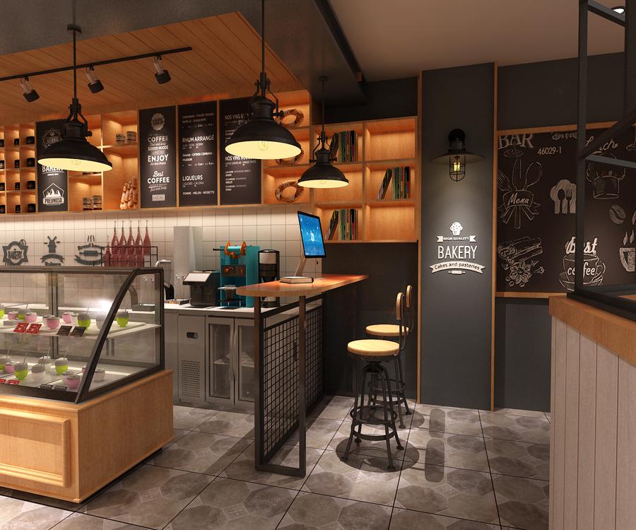 甜品店休闲区设计