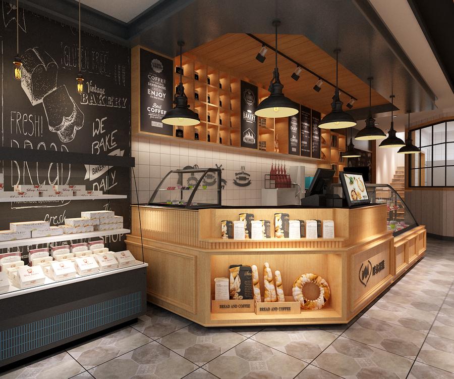 面包店收银区规划