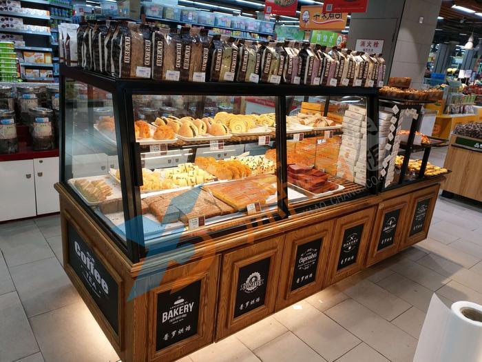 Bread island display cabinet