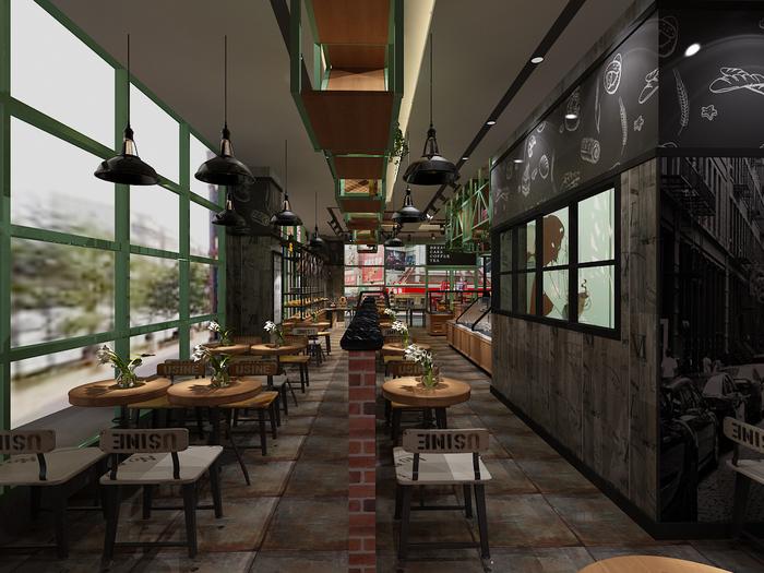 烘焙店休闲区设计
