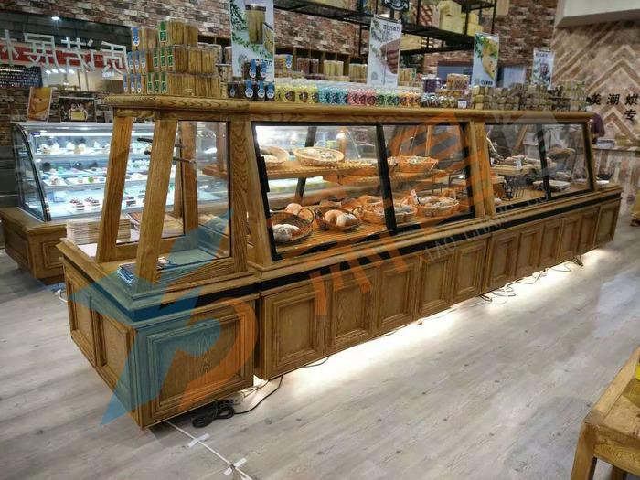 实木移门面包中岛柜