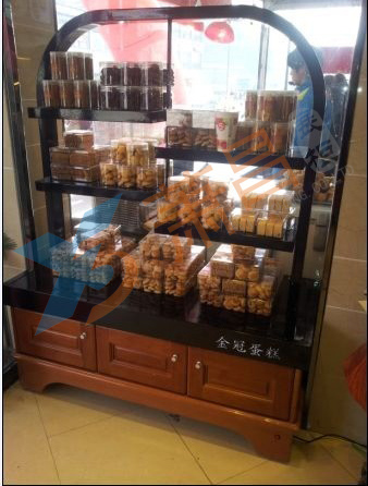 面包饼干展示柜
