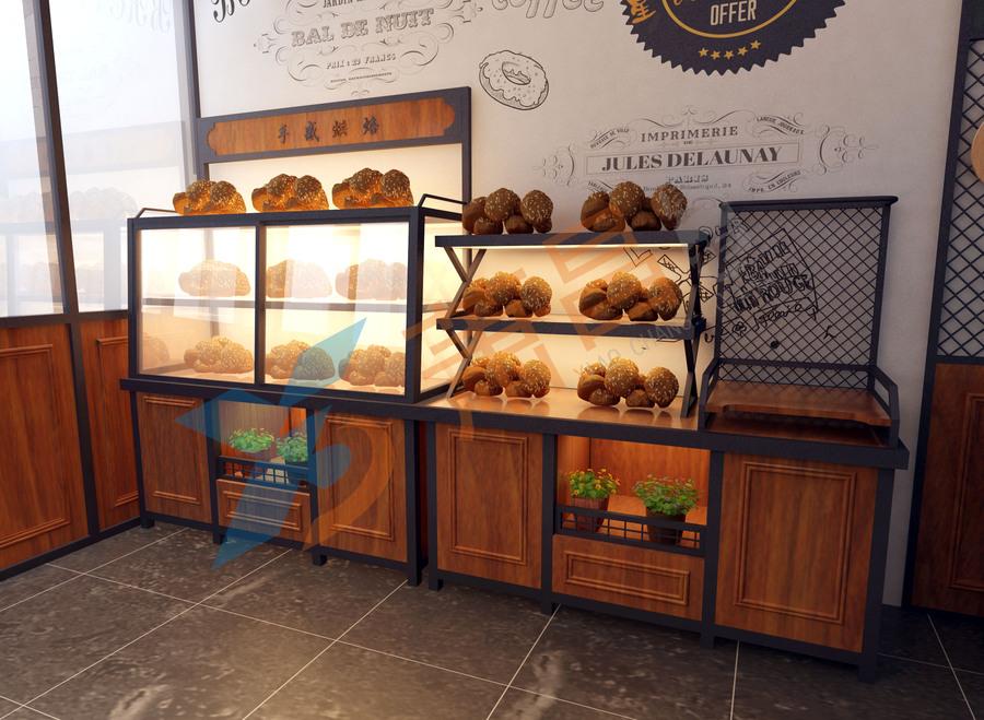 饼干柜+餐盘台